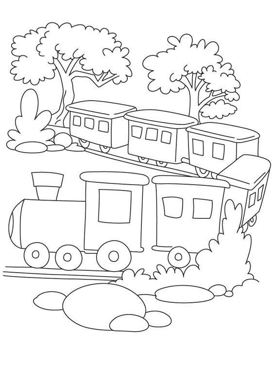 Train Coloring Pictures For Kids