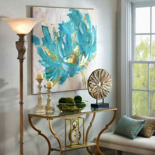 Pingl par tosca luchese sur encounters pinterest tableau peinture bleu turquoise et - Tableau bleu turquoise ...