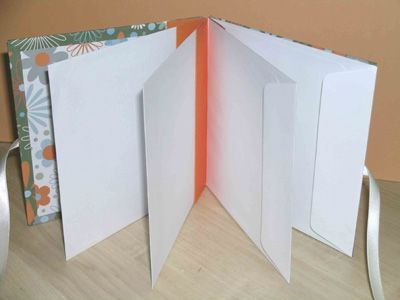 DIY Envelope book-going to store the kids art work in this.