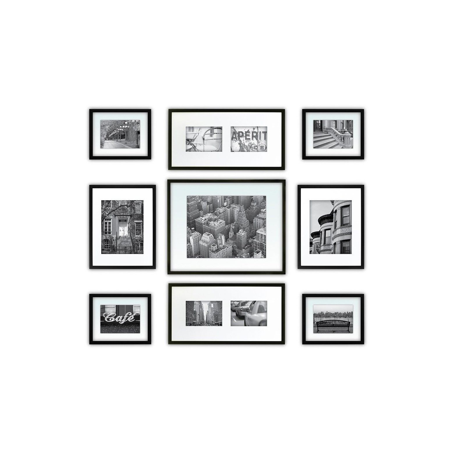 Display your most cherished photos with this Gallery Perfect 9pc