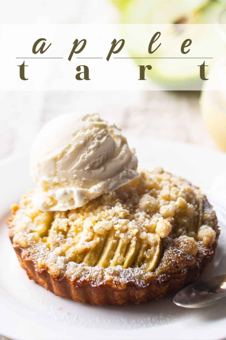 Irish Apple Tart: So good with custard sauce & ice cream! -Baking a Moment