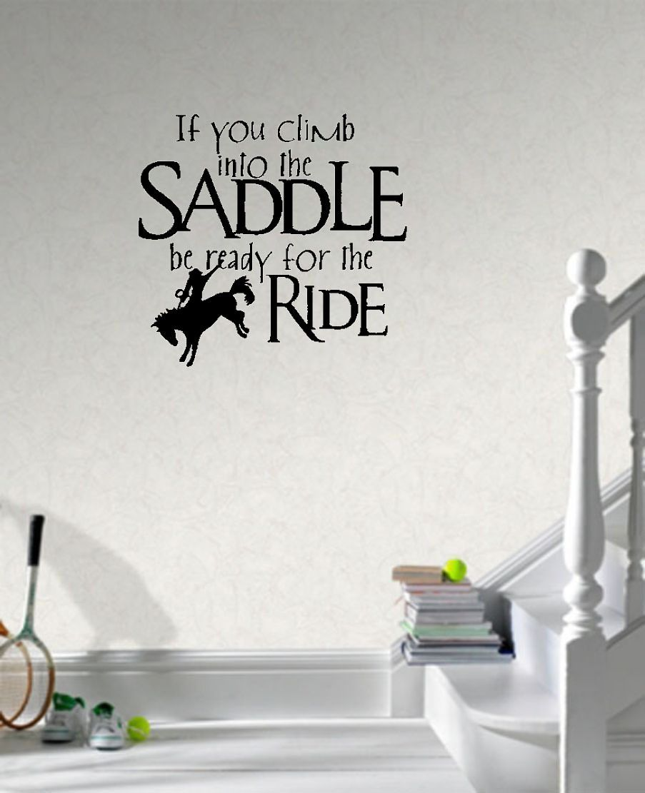 Saddle Up Horse Rider Western Wall Decals Vinyl Stickers Home