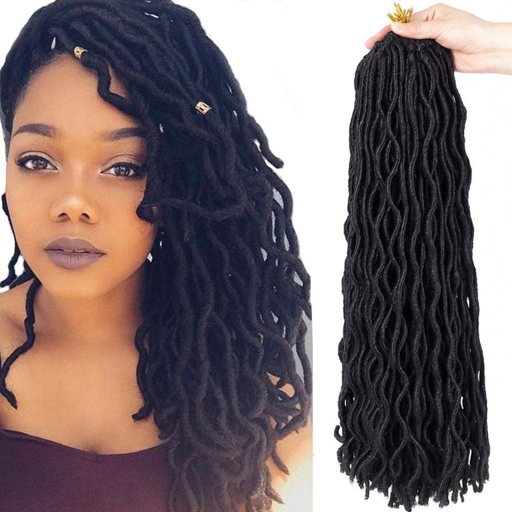 6packs Lot 20 Wavy Faux Locs Crochet Synthetic Braiding Hair 20 Inch Soft C Crochet Braids Hairstyles Braided Hairstyles Faux Locs Hairstyles