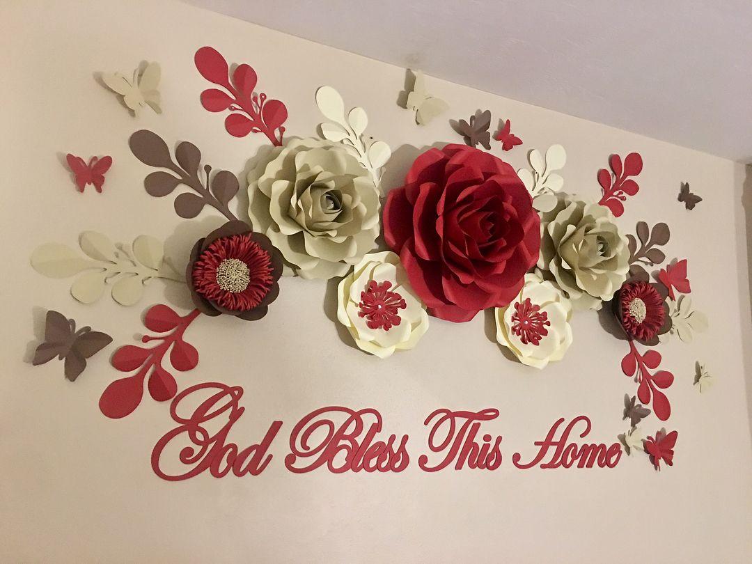 ➡️ For More   Decoração flores de papel, Trabalhos manuais, Flor ...