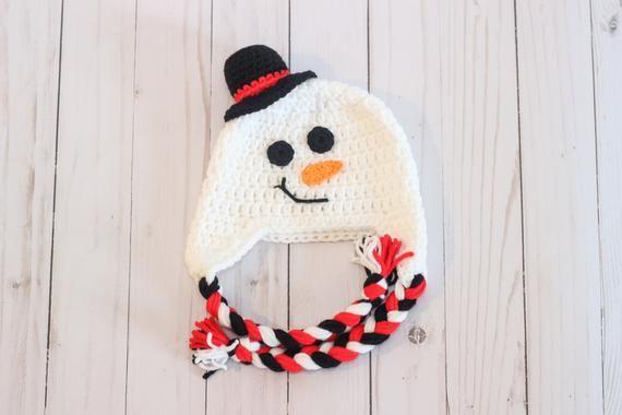 fec572bcb92 Crochet Snowman Hat