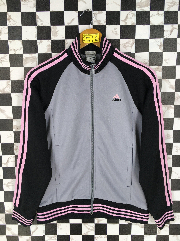 64e2b6527fc21 ADIDAS EQUIPMENT Track Jacket Women Small Vintage Adidas Three ...
