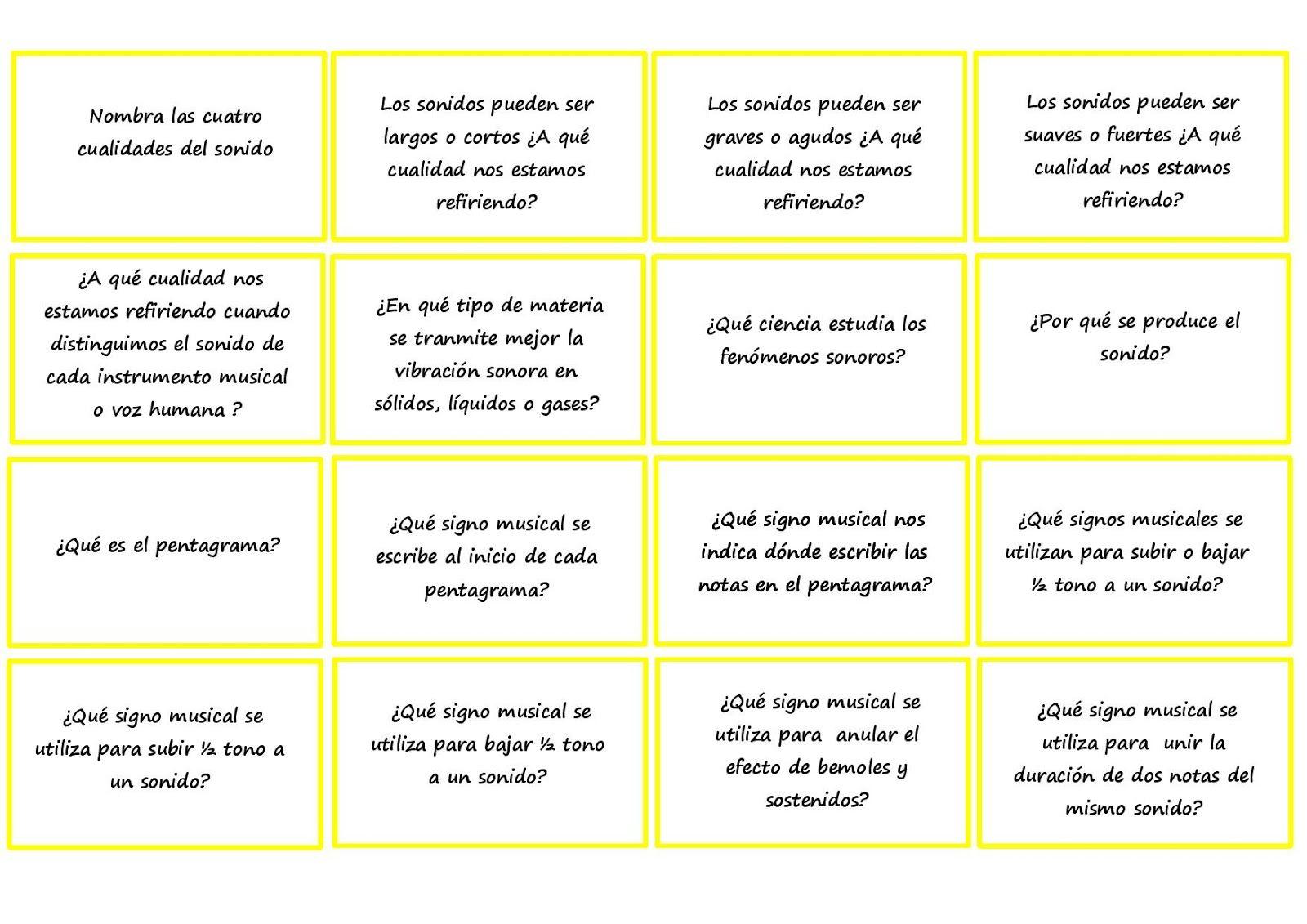 PREGUNTAS DE HISTORIA DE LA MÚSICA (ejemplos) Dispones de una ...