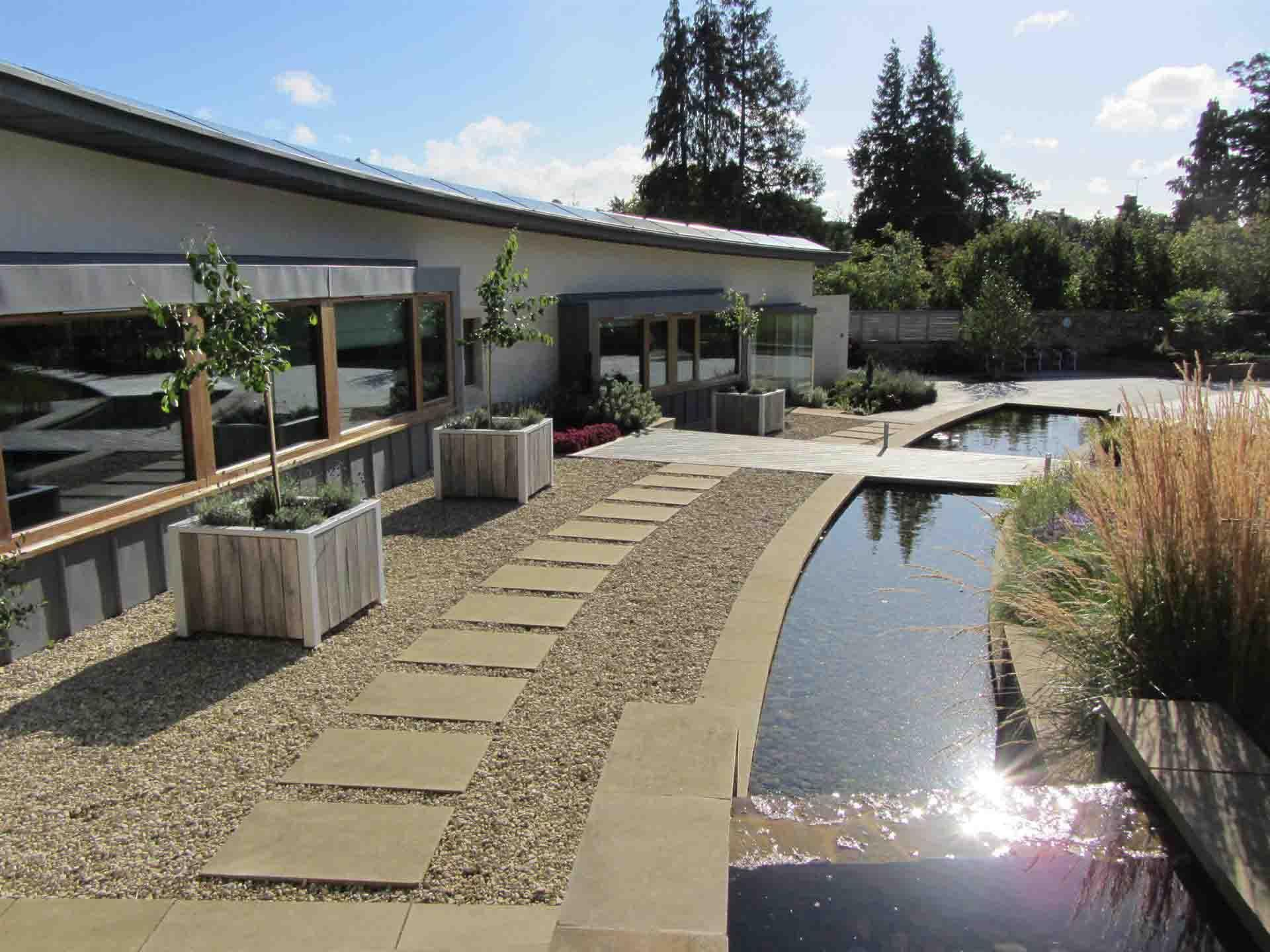 modern water garden design | garden design and landscape design