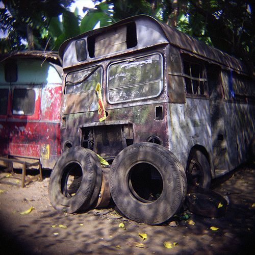 Old Bus With Holga Kandy Sri Lanka