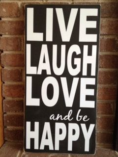 Live laugh love wall decor wooden