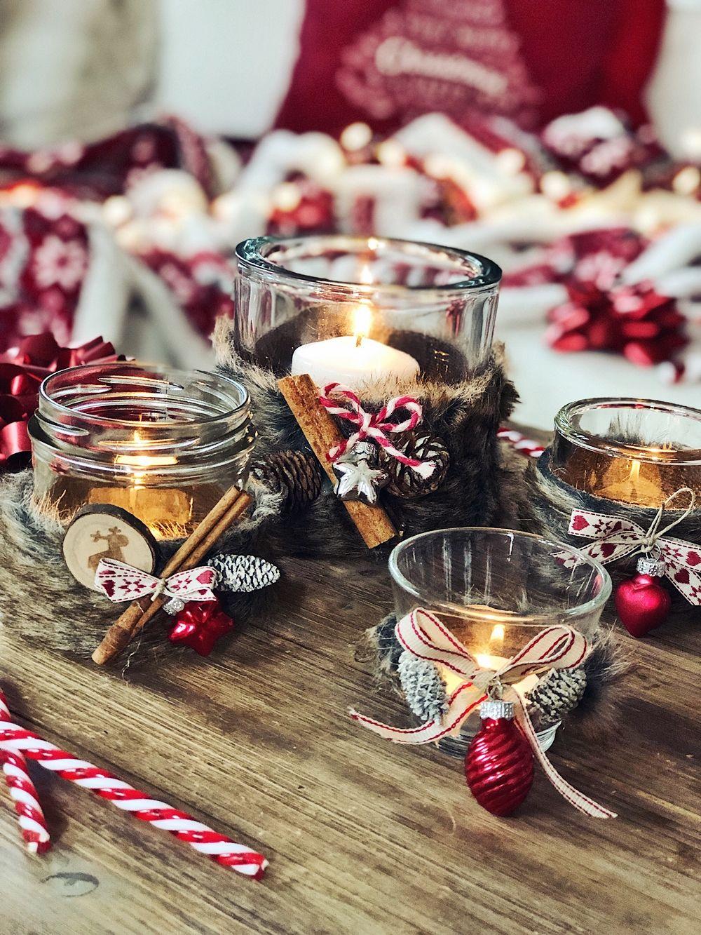 3. Advent - DIY - Weihnachtliche Kerzengläser & Teelichter basteln