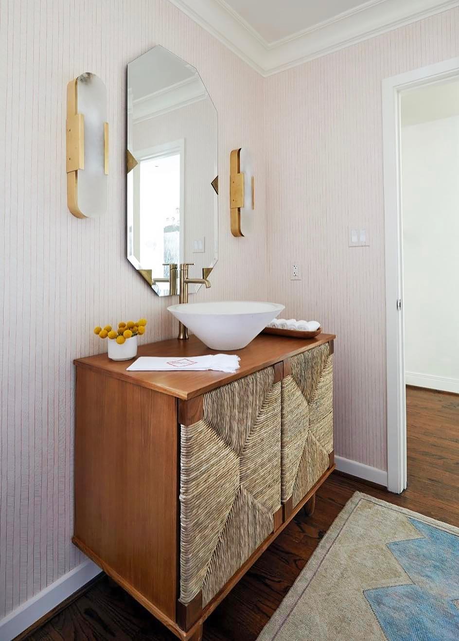 Melange Elongated Sconce Powder Room Vanity Bathroom