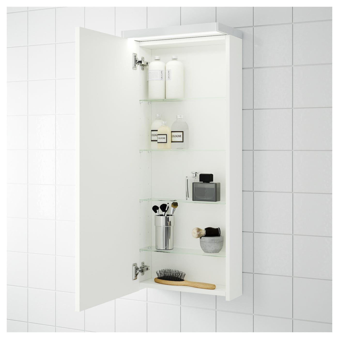 Godmorgon Wall Cabinet With 1 Door White 15 3 4x5 1 2x37 3 4 Bathroom Wall Storage Bathroom Wall Cabinets Ikea Godmorgon