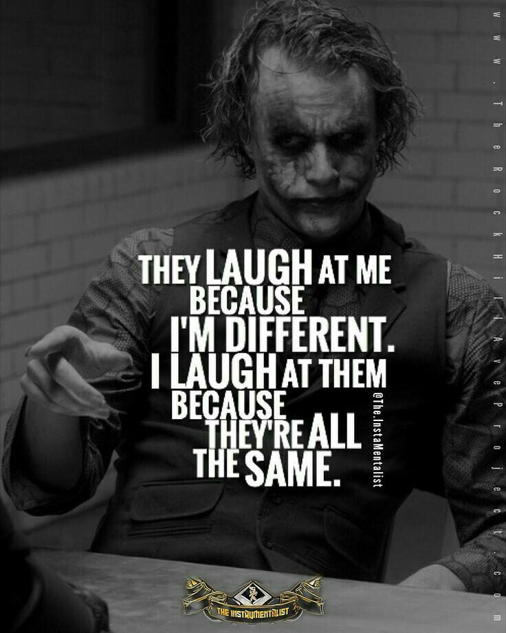 i want to be different joker quotes best joker quotes badass