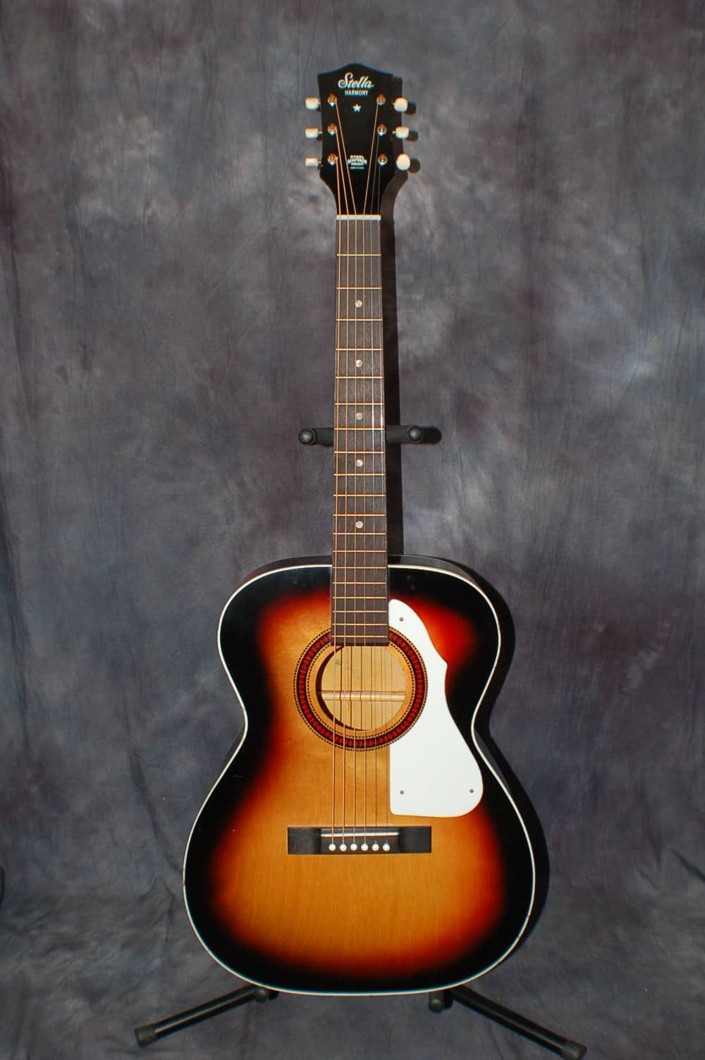 A Vintage very RARE 1970 Harmony H943 Full Size, (not parlor), Stella  Acoustic Guitar with original case. These guitars were only made for two  years.