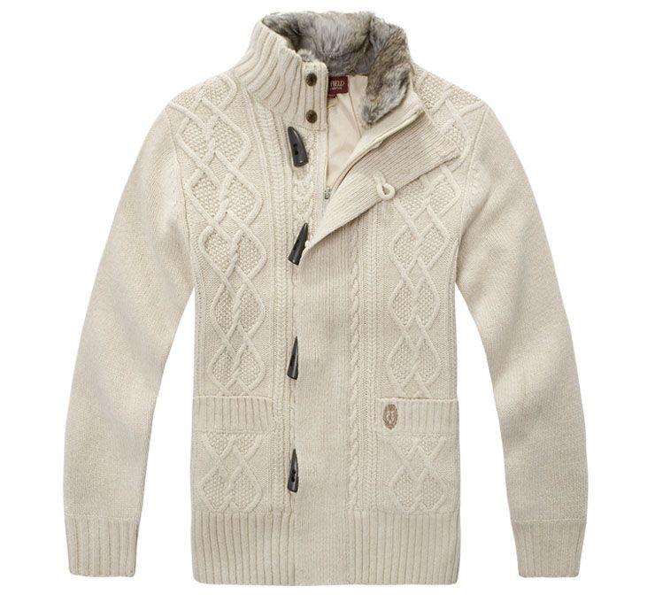 men Sweater | Men's Fashion Jacquard Wool Cardigan Sweater - Sell ...