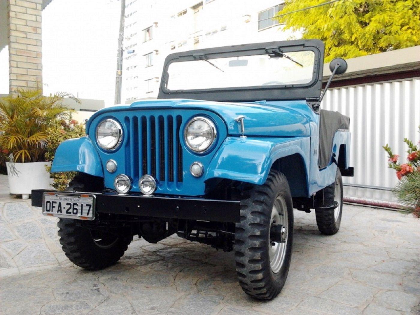 Jeep willys ford 1968 azul http www 4x4brasil com
