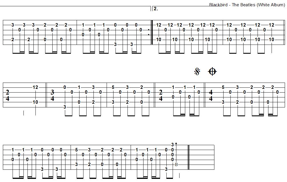 Blackbird Guitar Tab 2 Instrumental Pinterest Guitars Sheet
