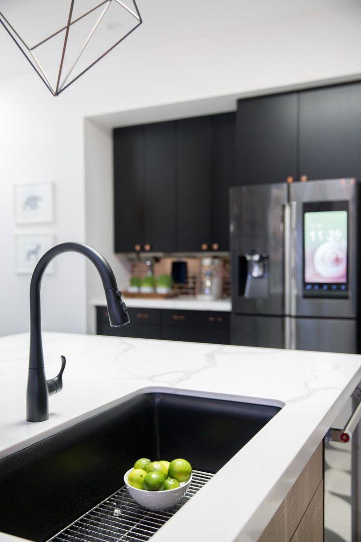 black sink, white countertop | Kitchen sink decor, Best ...