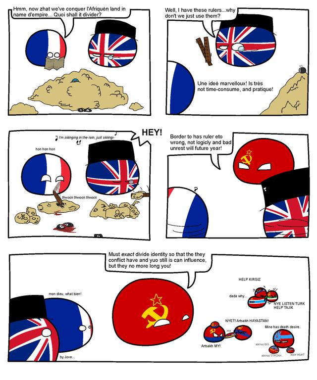 Borderline Madness polandball Border, Fun comics