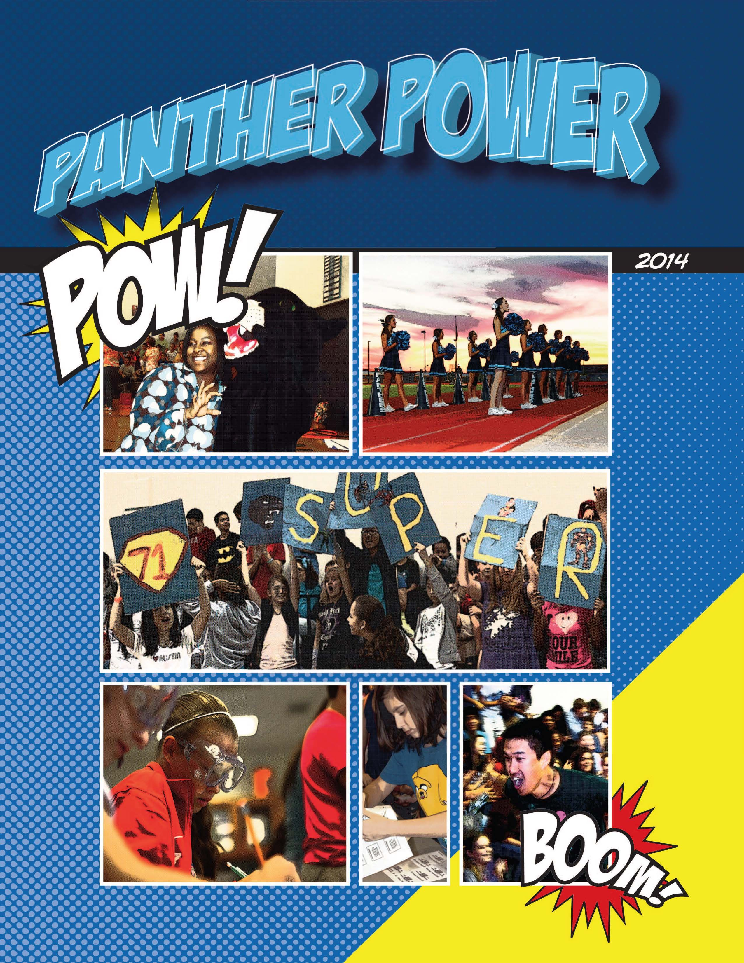 Ridgeview Middle School Panther Power Comic Book Yearbook Pages