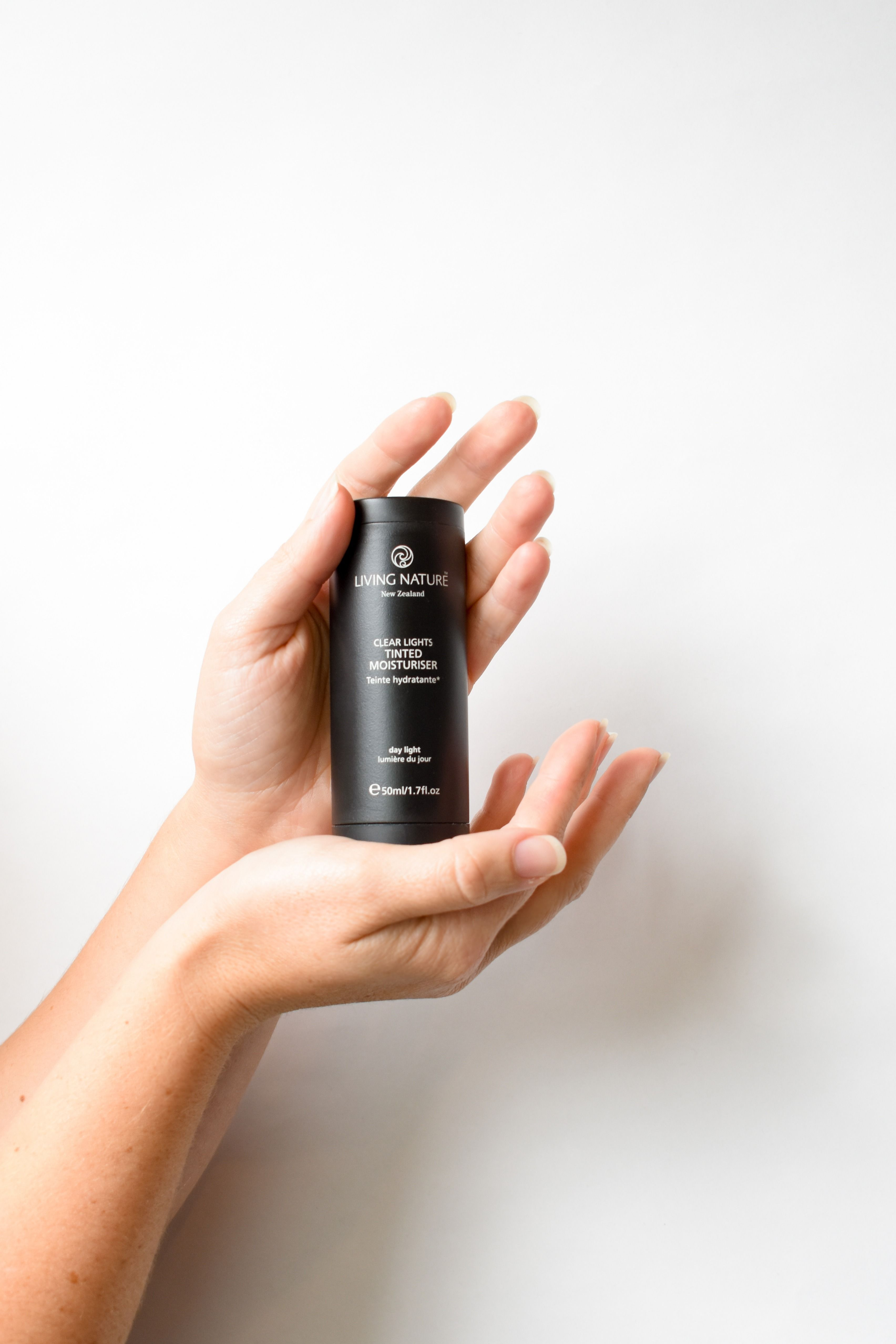 A light-to-medium coverage, oil-free tinted moisturizer