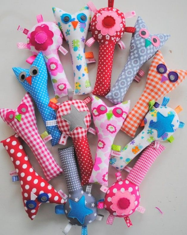 Inspiration for some baby rattle toys.