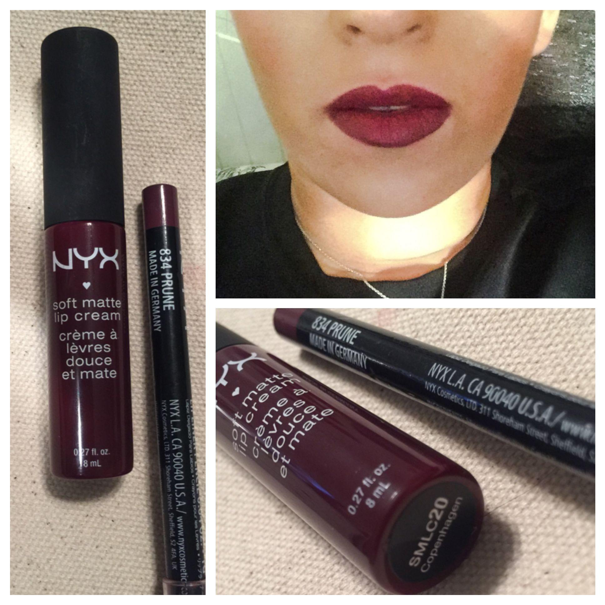 c8aed9d35e Copenhagen nyx soft matte lip cream with bye plum lip liner   Makeup ...