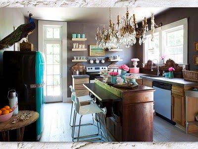 Mooie Eclectische Woonkeuken : Eclectische keuken eclectic kitchen eclectic style