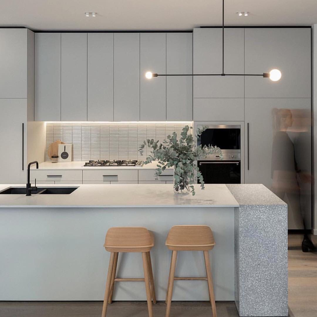 Minimalist Kitchen Design: Minimalist Kitchen Design With LED Strip Lighting And