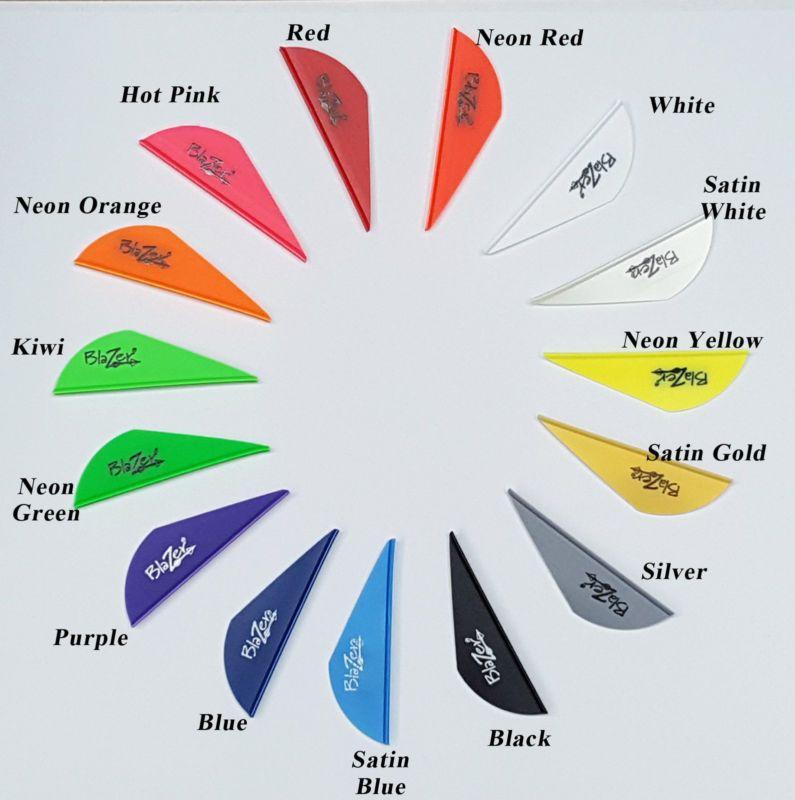 36 Pack White Bohning Blazer Vanes Fletchings Arrow