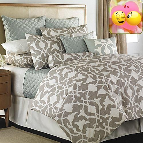 #checkitout One king duvet cover set. The set includes: one king duvet cover and two standard pillow #shams, 20x26 inch.