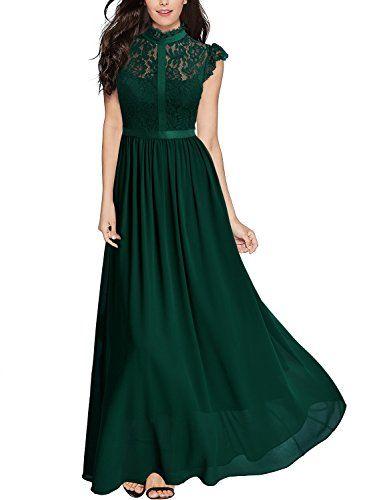 Vestido largo vintage para fiesta marca MIUSOL  ce49cda58f4d