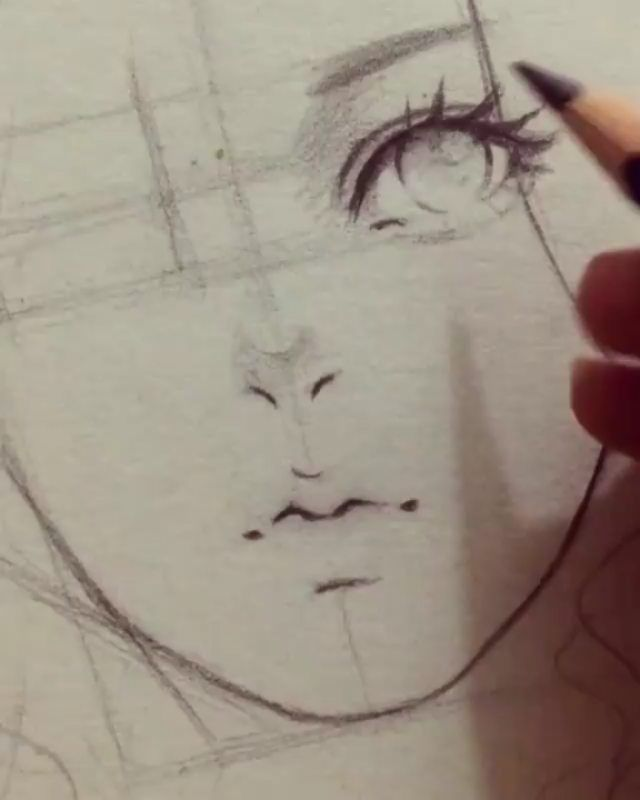 Drawing Faces #realisticeye