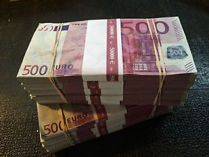 500 Euro Prop Money / 500 EURO Movie Money/ Euros / NEW