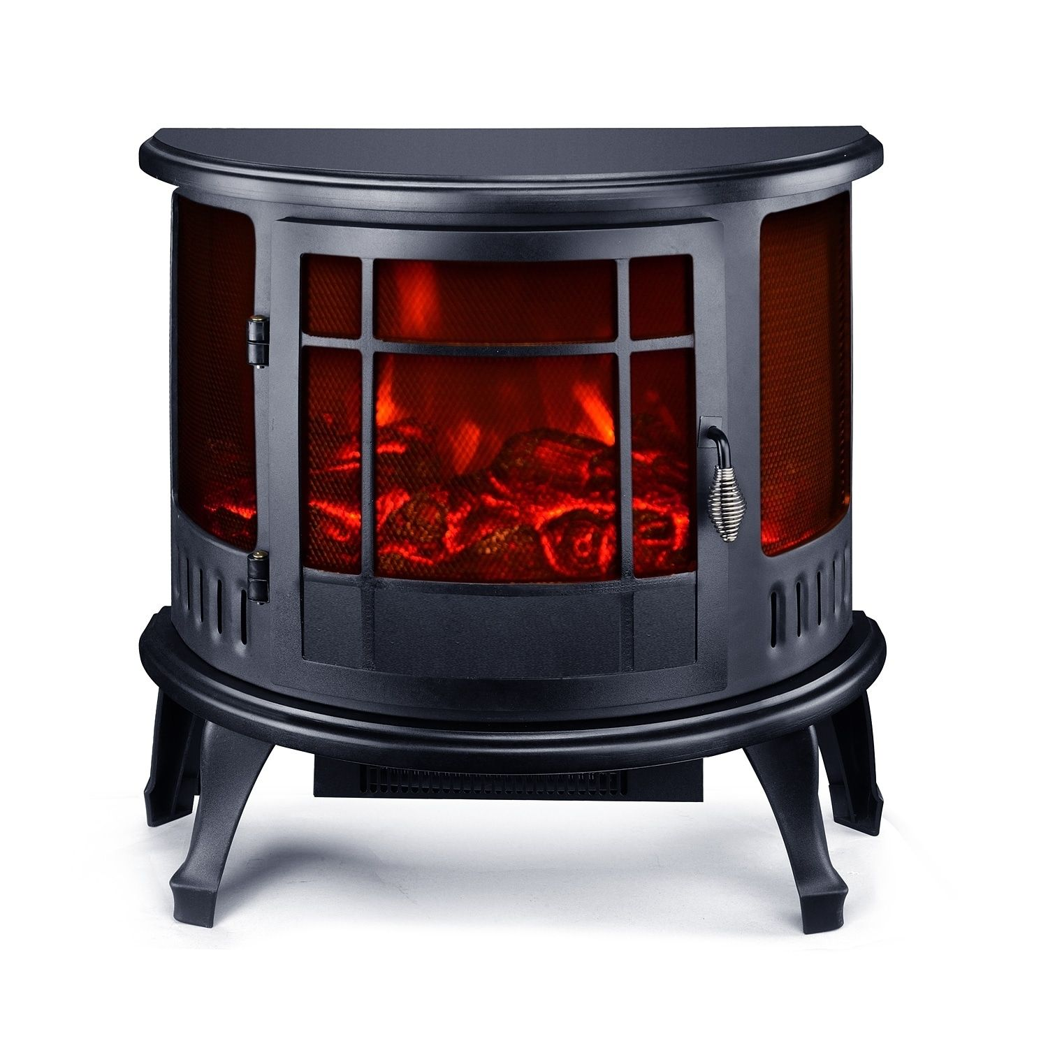 homcom 23 1500w free standing electric fireplace black mdf iron