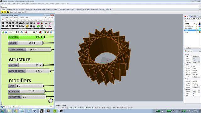 laser cuttable 3D star polygonic fun in grasshopper | parametric