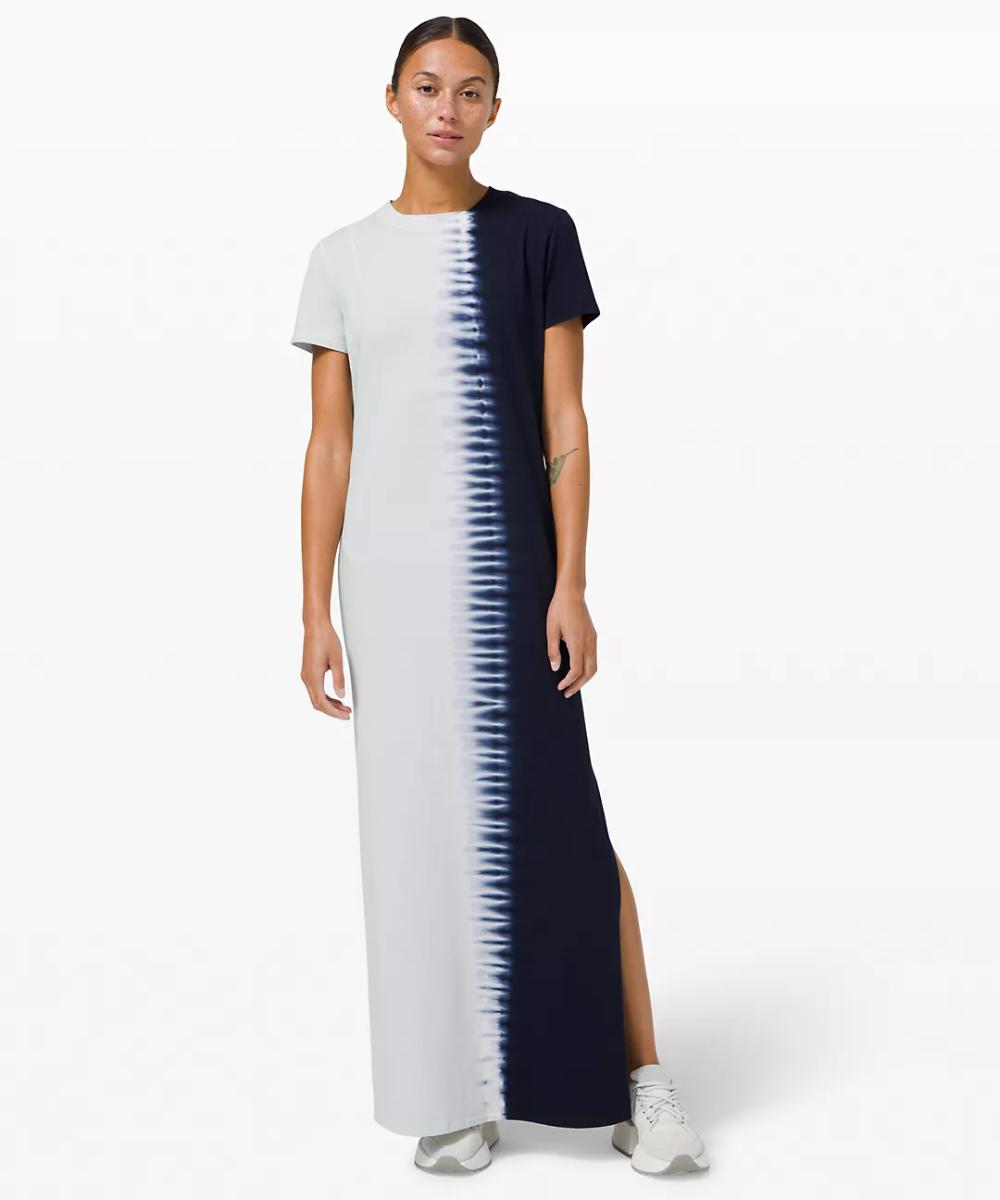 La Relaxed Short Sleeve Maxi Dress Tie Dye Women S Dresses Lululemon In 2021 Maxi Dress With Sleeves Short Sleeve Maxi Dresses Tie Dye Women [ 1200 x 1000 Pixel ]