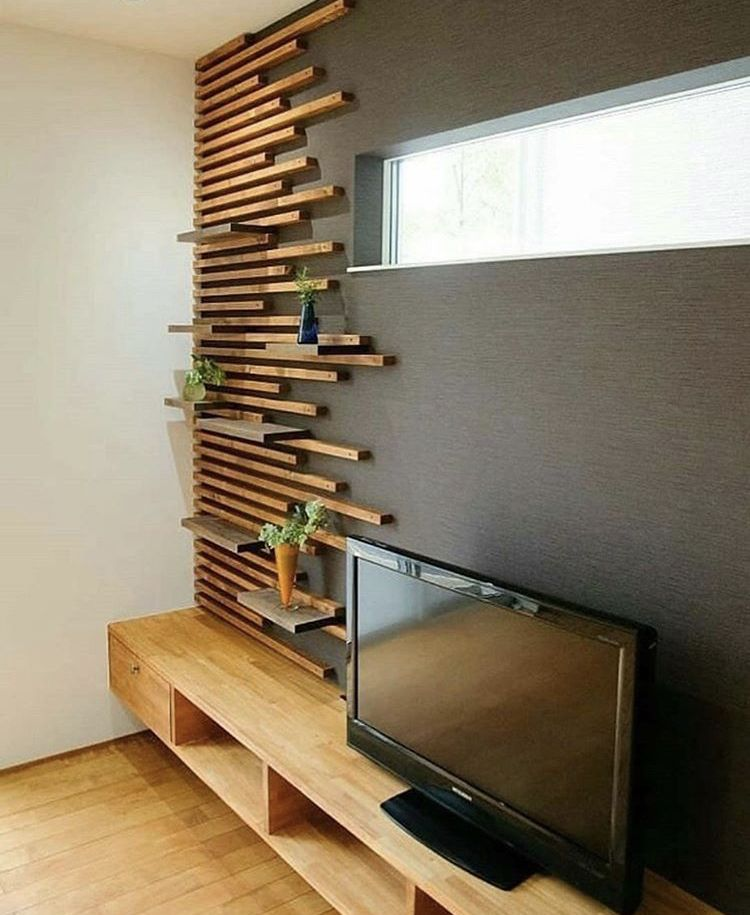 Nice Idea For An Accent Wall Would Be Pretty In A Bedroom In 2020 Woodworking Projects Furniture Home Home Decor