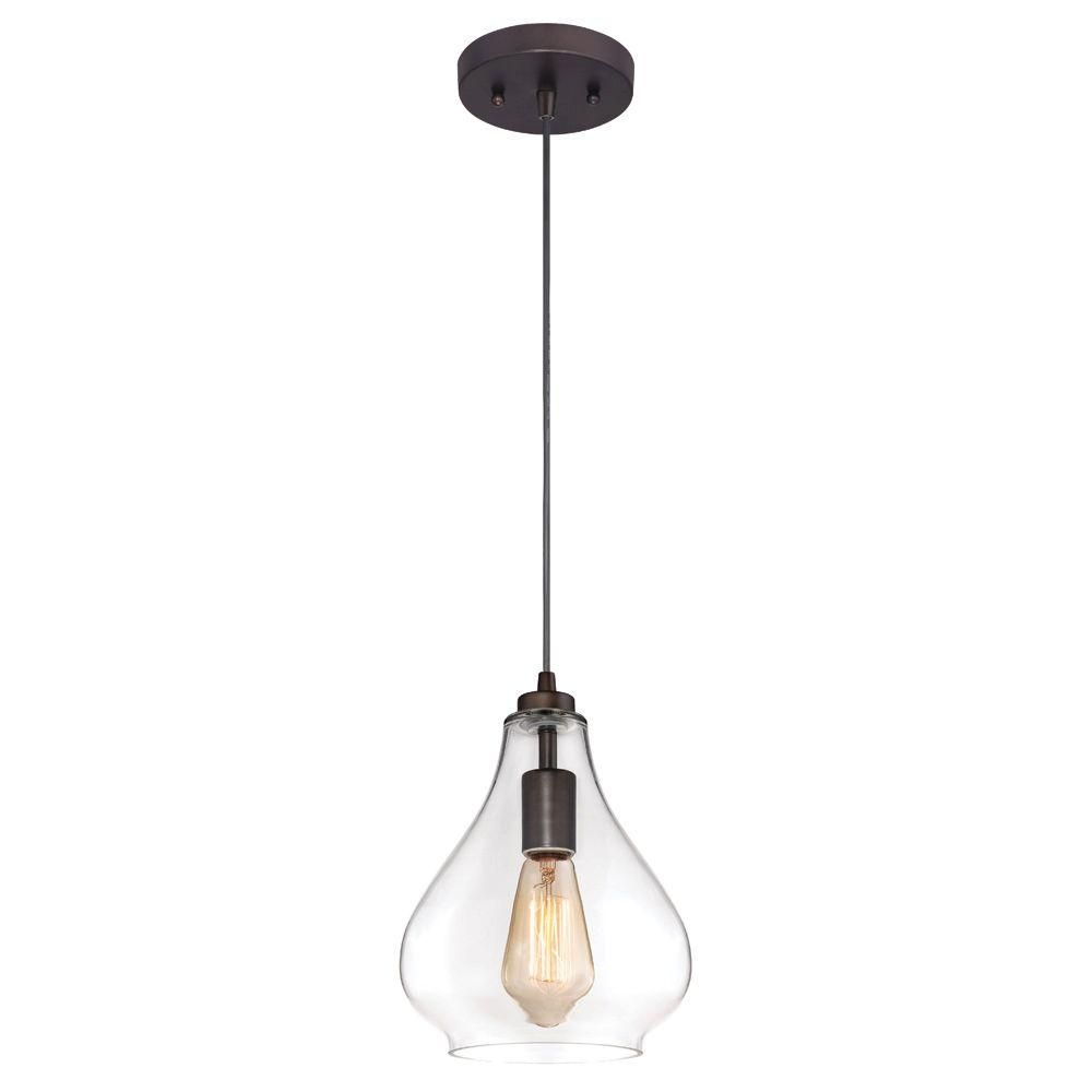 Westinghouse 1-Light Oil Rubbed Bronze Adjustable Mini Pendant with ...