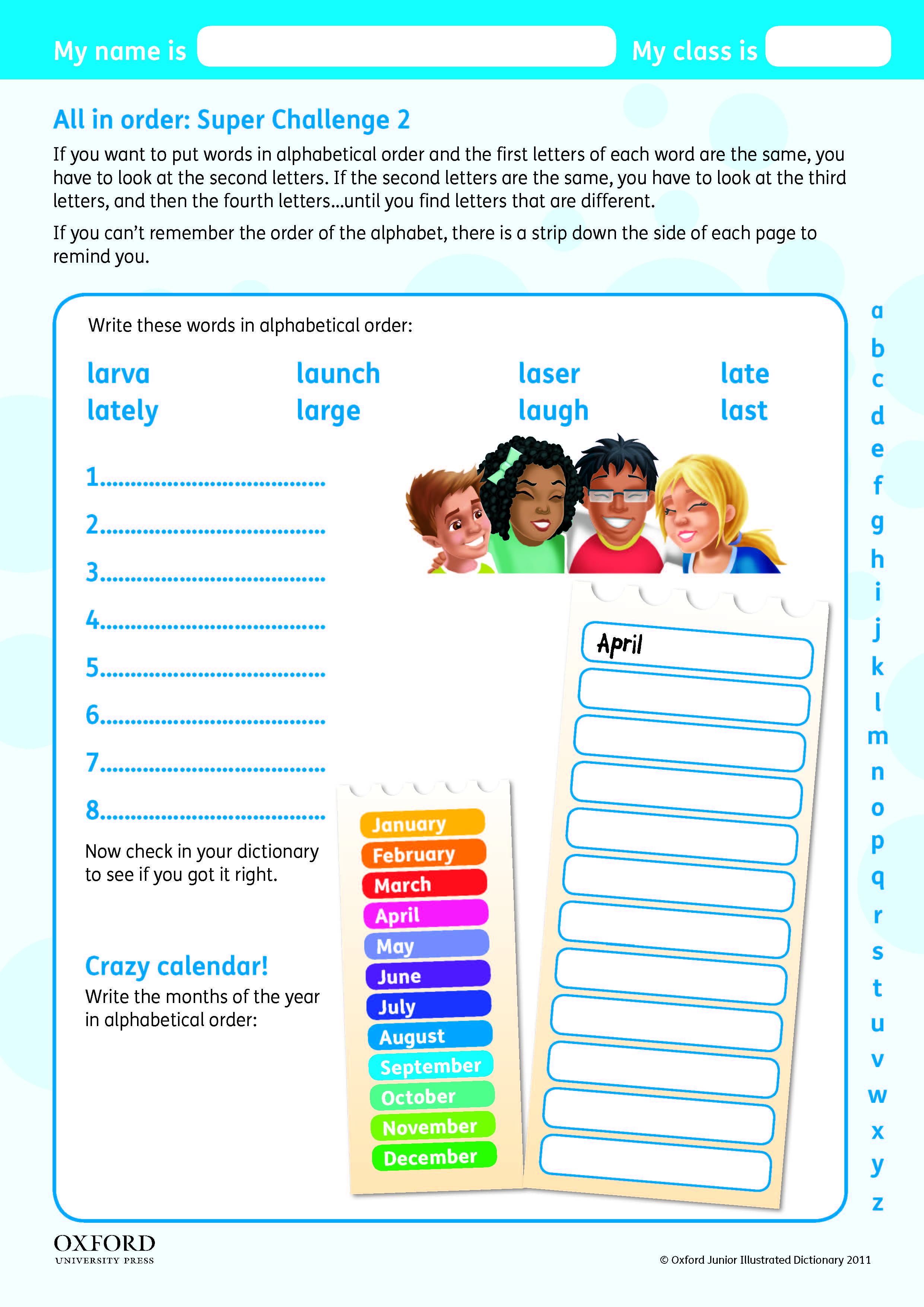 small resolution of Download your free Oxford Primary Dictionary Super Challenge worksheet.  Teach children about guide words in the diction…   Guide words