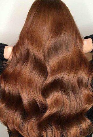 Photo of brown auburn hair