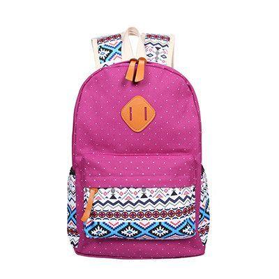 f4bac44be Kunzite Stylish Canvas Printing Backpack Women School Bags for Teenage  Girls Cute Bookbags Laptop Backpacks Female Bagpack Sac