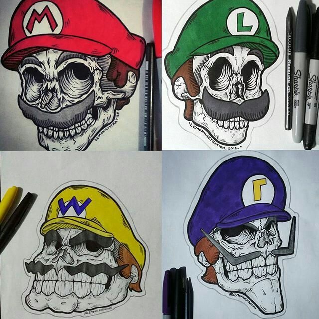 Mario Luigi Wario And Waluigi Tattoo Ideas