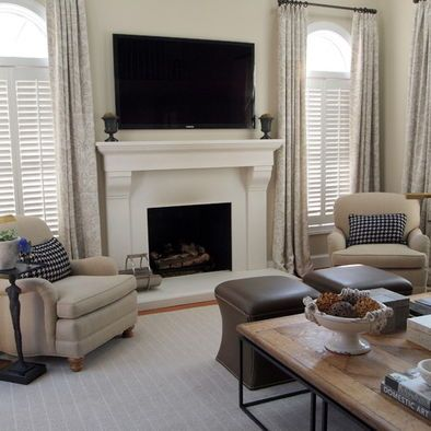 Google image result for - Houzz window treatments living room ...