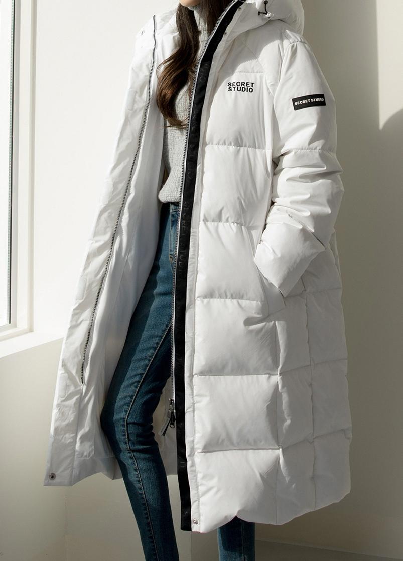 Koreanclothingstyles Korean Winter Outfits Outerwear Women White Puffer Coat [ 1118 x 803 Pixel ]