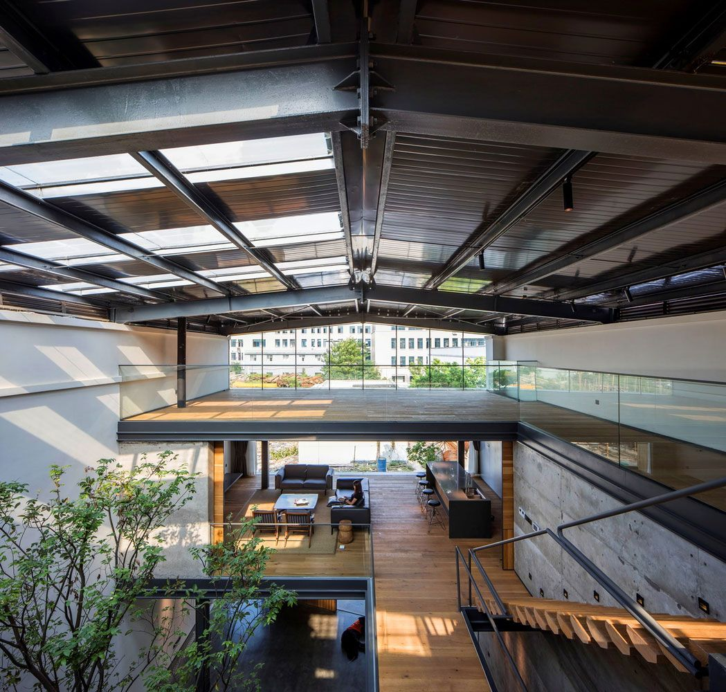 Wanjing Studio Remodels A Home In Hangzhou Zhejiang China Warehouse Design Industrial Home Design Architecture Design