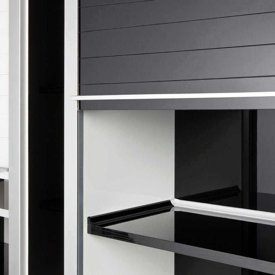 Kitchen Tambour Door Kit Rehau Rauvolet Glass Tambour Doors Kitchen Design Pinterest