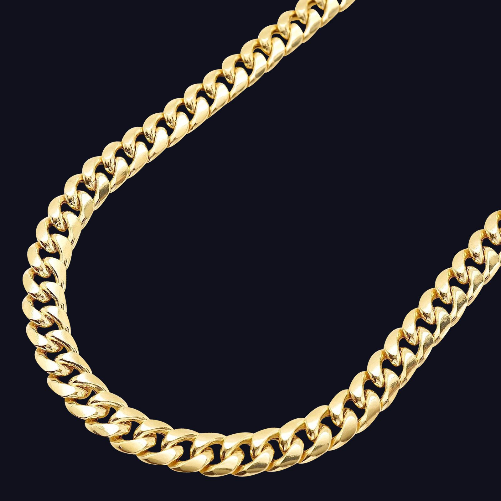 9 5mm 14k Yellow Gold Cuban Link Chain Necklace Gold Cuban Link Chain Cuban Link Chain Chain
