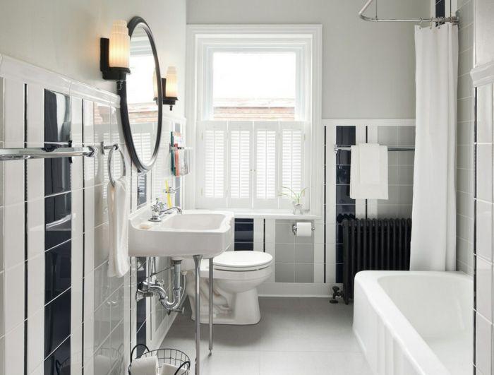 Badgestaltung Bad Ideen Badezimmer schwarz-weiß mehr weiss - schwarz wei fliesen bad
